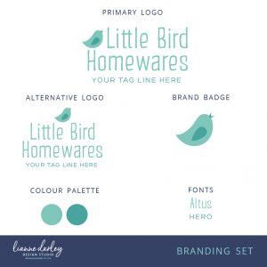 Bird Logo Branding Set - Pre-made logo