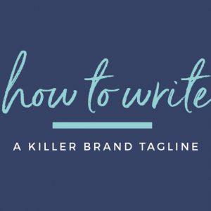 How to write a brand tagline