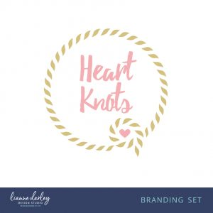 Pink and Gold Rope Pre-Made Logo Branding Set