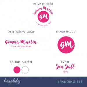 Bright Pink Script Logo Pre-Made Logo Brand