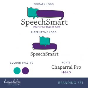 Speech bubble pre-made logo branding set