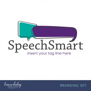 Speech bubble pre-made logo branding set