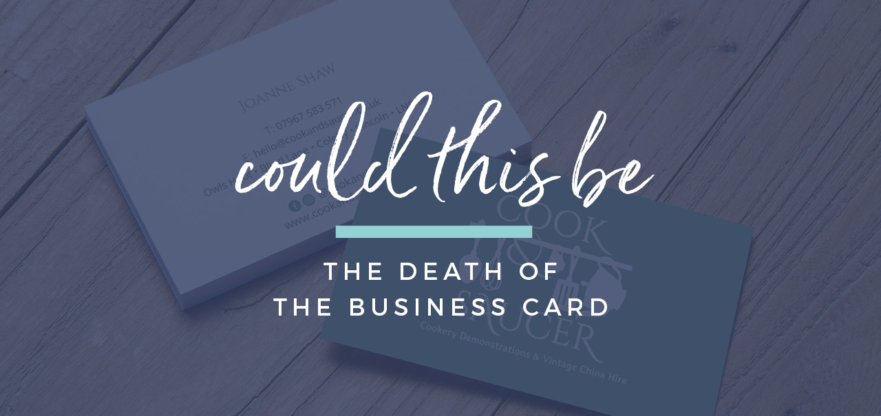 Is this the death of the business card?